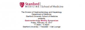 Gastroenterology and Hepatology: Gastroenterology Motility Symposium @ Tressider Oak Lounge | Stanford | California | United States