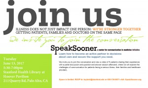 Palliative Care and the Center for Communication in Medicine Present: Speak Sooner @ Stanford Health Library at Hoover Pavilion | Stanford | California | United States