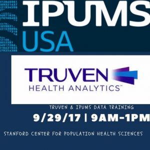 Center for Population Health Sciences: Data Training | Truven and IPUMS @ Li Ka Shing Center, Room 320, 3rd floor | Palo Alto | California | United States