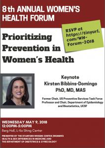8th Annual Women's Health Forum: Prioritizing Prevention in Women's Health @ Berg Hall, LKSC | Palo Alto | California | United States