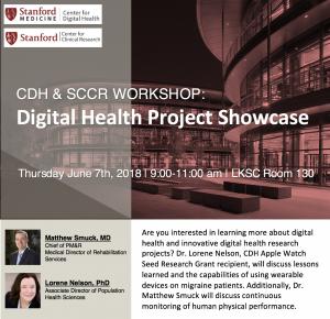 CDH & SCCR Workshop: Digital Health Project Showcase @ LKSC Room 130 | Palo Alto | California | United States