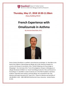 French Experience with Omalizumab in Asthma @ Alway Building M114 | Palo Alto | California | United States