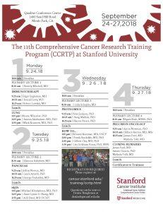 SCI Comprehensive Cancer Research Training Program (CCRTP) @ Quadrus Conference Center | Menlo Park | California | United States