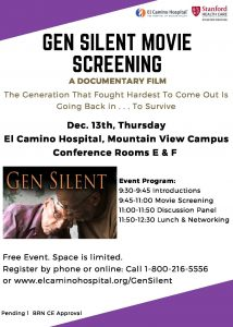 Gen Silent Movie Screening @ El Camino Hospital, Mountain View Campus, Conference Rooms E and F | Mountain View | California | United States
