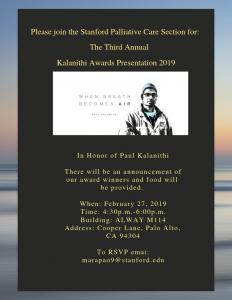 Kalanithi Awards Presentation 2019 @ Alway M114