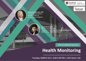 CDH and eWEAR Seminar: Health Monitoring