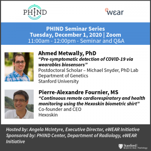 PHIND Seminar: Ahmed Metwally, PhD & Pierre-Alexandre Fournier, MS @ Zoom - See Description for Zoom Link