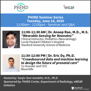 PHIND Seminar: Dr. Anoop Rao, M.D., M.S. & Dr. Eric Dy, Ph.D. @ Zoom - See Description for Zoom Link