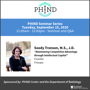 """PHIND Seminar: """"Maintaining Competitive Advantage through Intellectual Capital"""" @ Zoom - See Description for Zoom Link"""