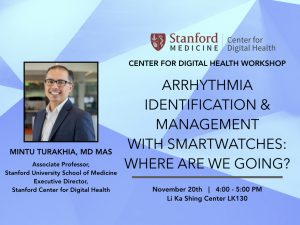 Arrhythmia  Identification and Management with smartwatches @ Li Ka Shing Learning and Knowledge Center, Room LK130