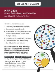 HRP 253: Cancer Epidemiology and Prevention