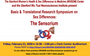 Basic and Translational Research Symposium on Sex Differences: The Sensorium @ Clark Center Auditorium