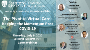 The Pivot to Virtual Care: Keeping the Momentum Post COVID-19 @ Zoom