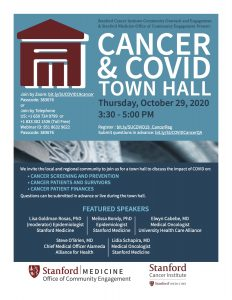 Cancer & COVID-19 Community Town Hall @ Online only