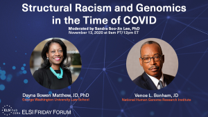 ELSI Friday Forum: Structural Racism and Genomics in the Time of COVID @ Zoom