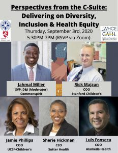 Perspectives from the C-Suite: Delivering on Diversity, Inclusion & Health Equity @ Online only
