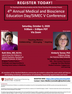 4th Annual Medical & Bioscience Education Day/SIMEC Conference @ Online only