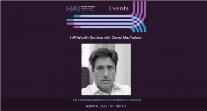 The Diversity-Innovation Paradox in Science @ Online Event