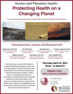 Human and Planetary Health: Protecting Health on a Changing Planet @ Online only