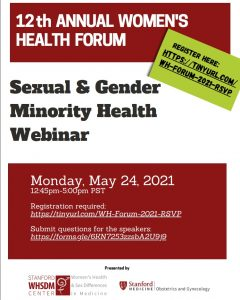 12th Annual Women's Health Forum: Sexual & Gender Minority Health Webinar @ Online only