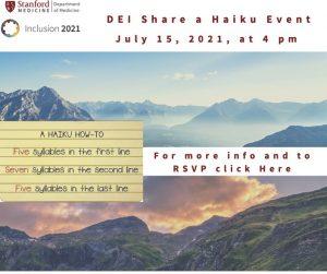 DEI Share a Haiku Event @ Online only